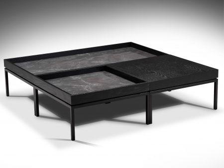 Aurora mesa de centro rectangular con bandeja